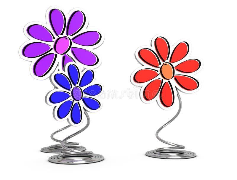 dekorativa blommor royaltyfri illustrationer