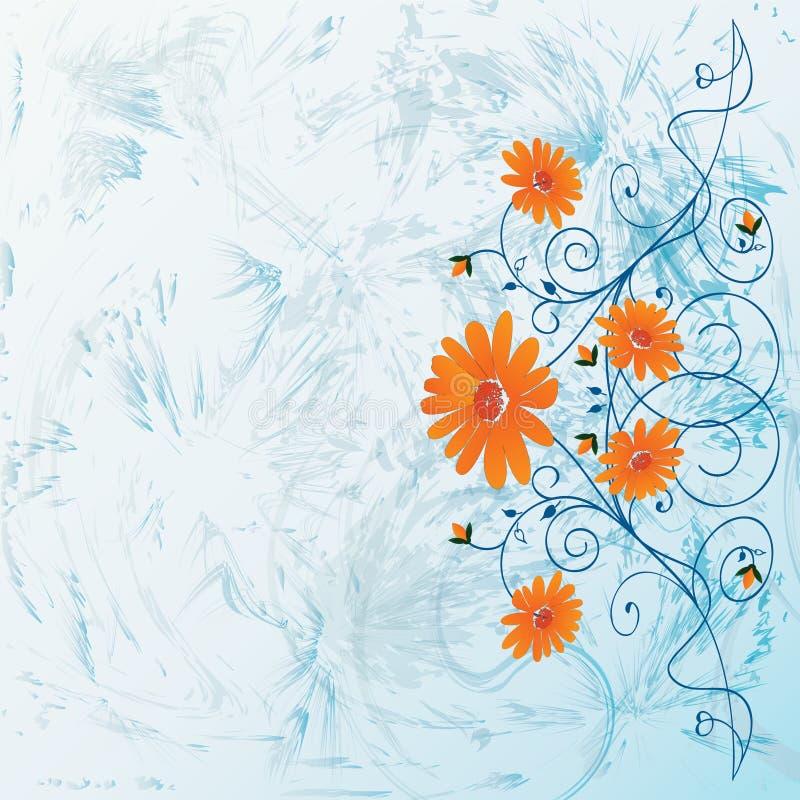 dekorativa blommor vektor illustrationer
