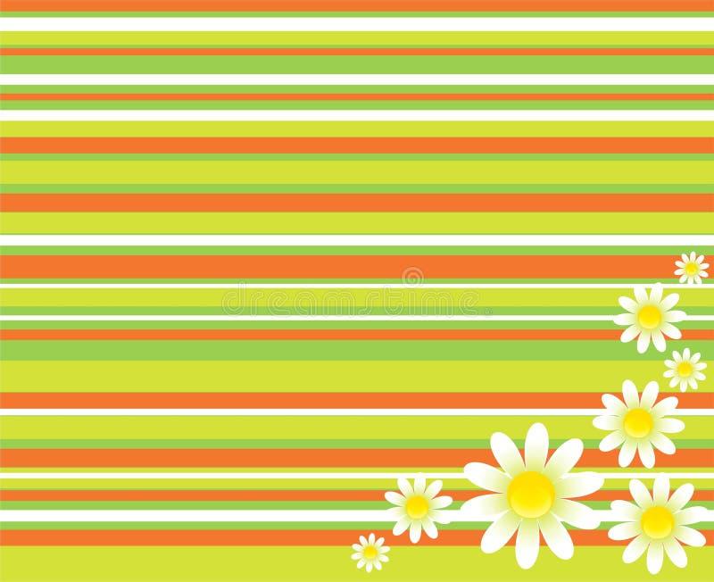 dekorativa blommor för bakgrund stock illustrationer
