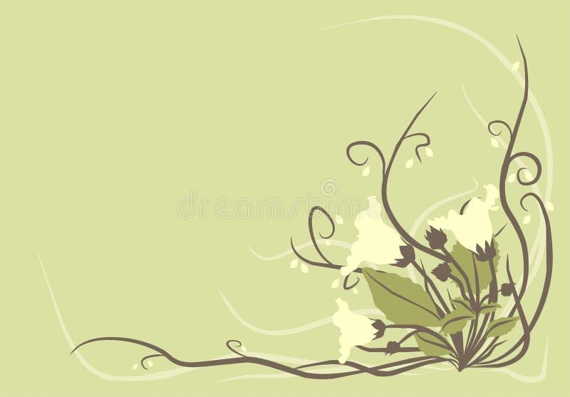dekorativa blommor för bakgrund royaltyfri illustrationer