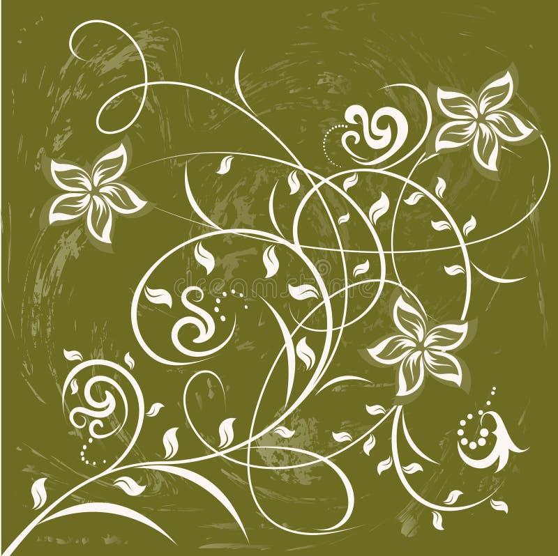 dekorativa blommor för bakgrundsfärg vektor illustrationer