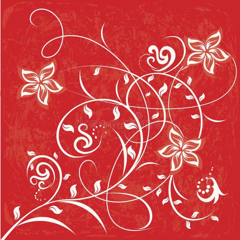 dekorativa blommor för bakgrundsfärg stock illustrationer