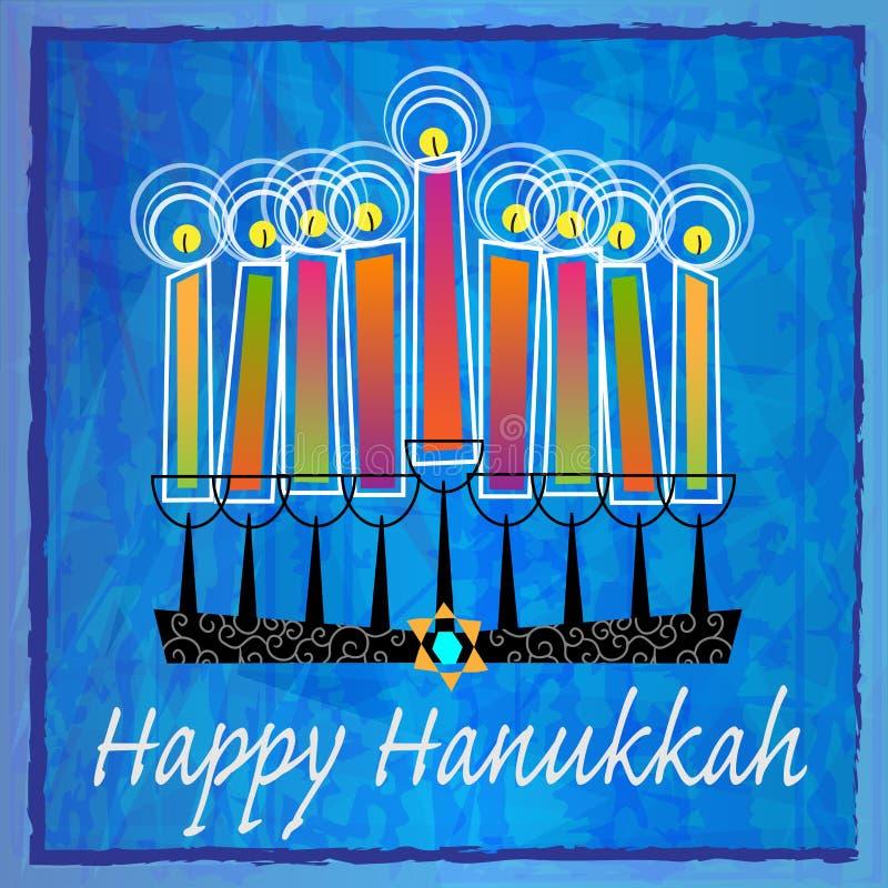 Dekorativa Chanukkahhälsningar royaltyfri illustrationer