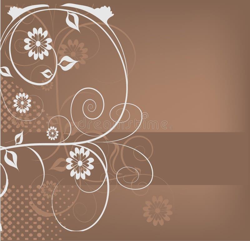 dekorativa designblommor royaltyfri illustrationer