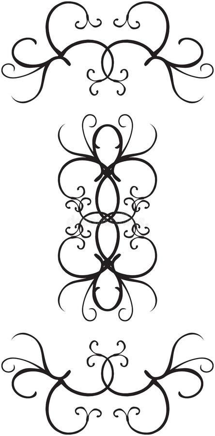 dekorativa designer för kant stock illustrationer