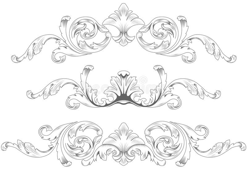 dekorativa element royaltyfri illustrationer