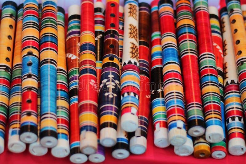 Dekorativa flöjter arkivbild