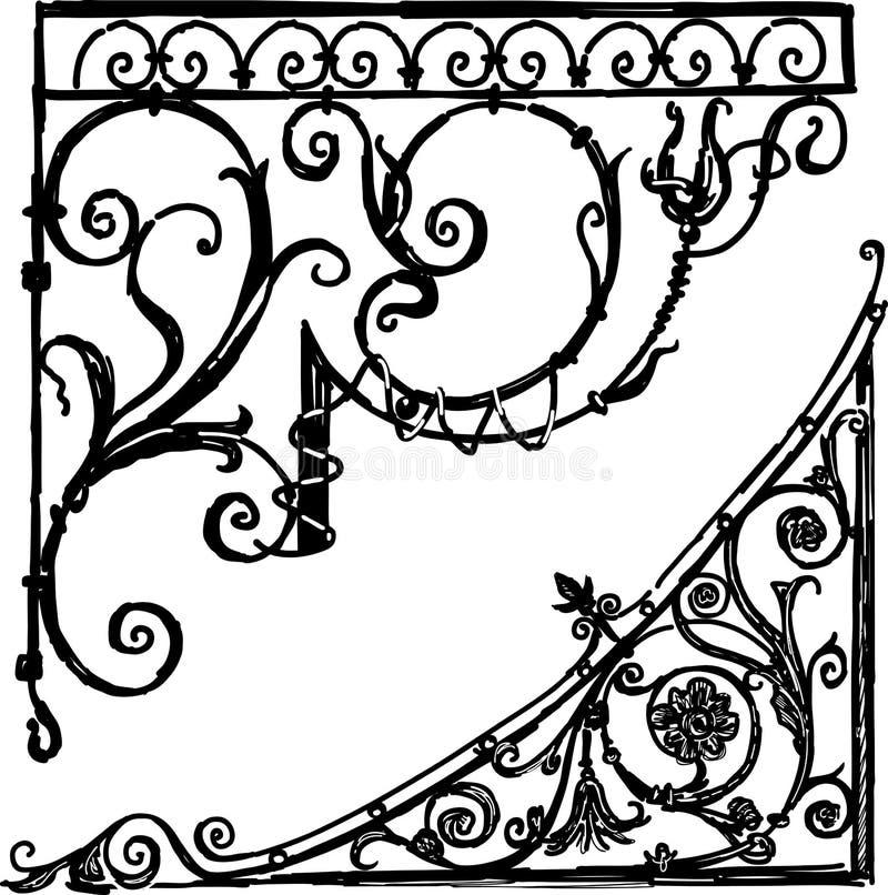 Dekorativa hörn för tappning vektor illustrationer