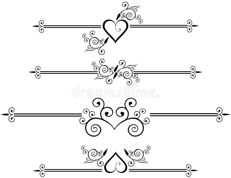 dekorativa linjer regel royaltyfri illustrationer