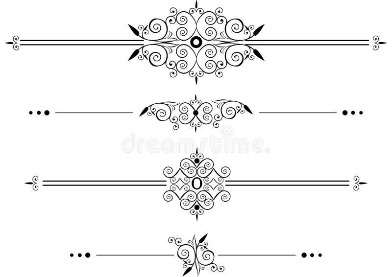 dekorativa linjer regel vektor illustrationer