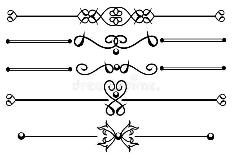 dekorativa linjer regel stock illustrationer