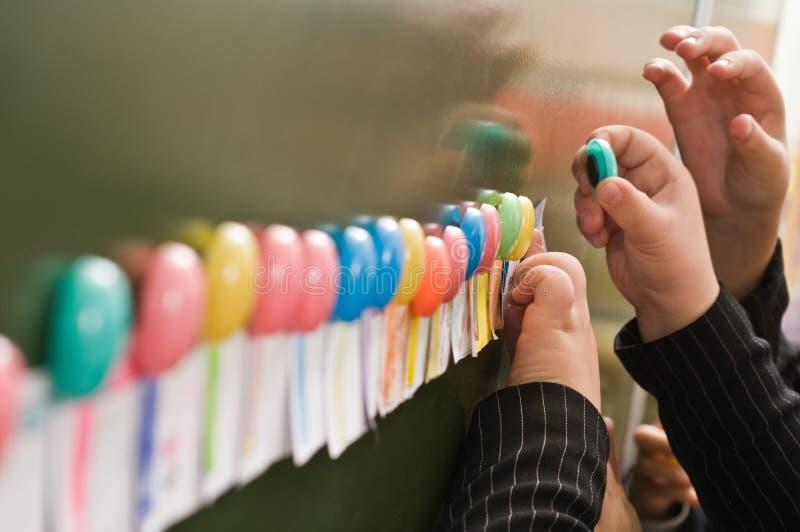 dekorativa magneter för färg royaltyfria bilder