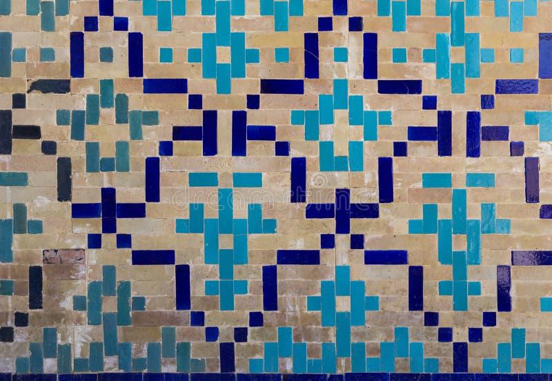Dekorativa modeller och arkitektoniska detaljer av madrasah i Bukhara, Uzbekistan royaltyfri fotografi