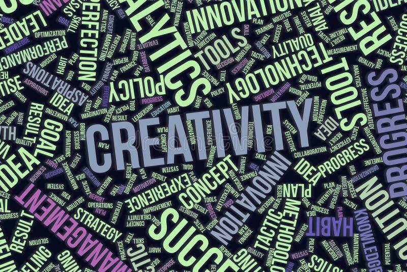 Dekorativa och modellformillustrationer Intelligent, samarbete, organisation & ambitioner stock illustrationer