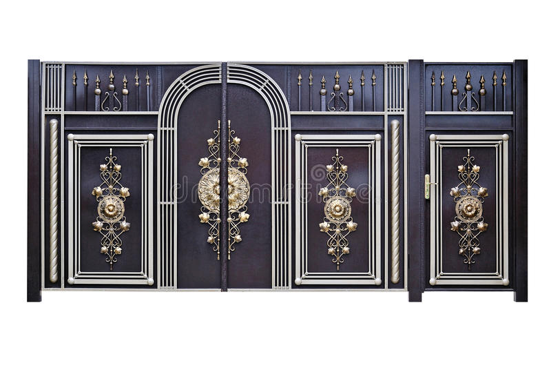 Dekorativa portar och dörrar. royaltyfria foton