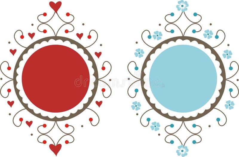 dekorativa ramar royaltyfri illustrationer