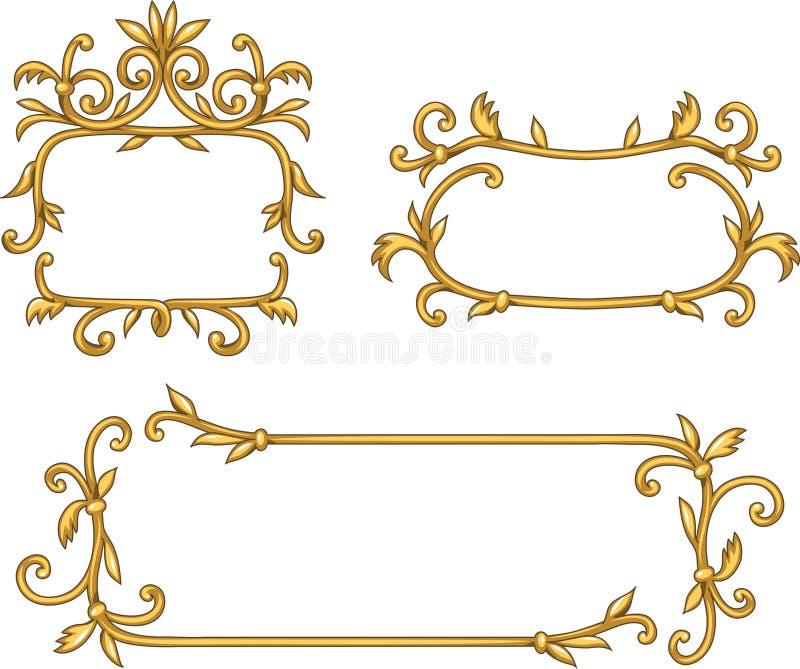 dekorativa ramar vektor illustrationer