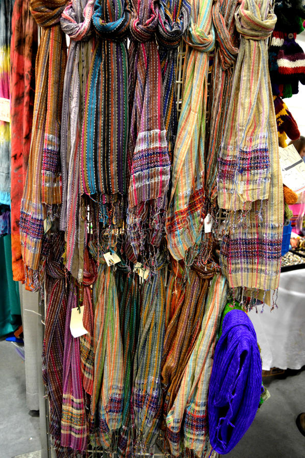 Dekorativa Scarves arkivbild