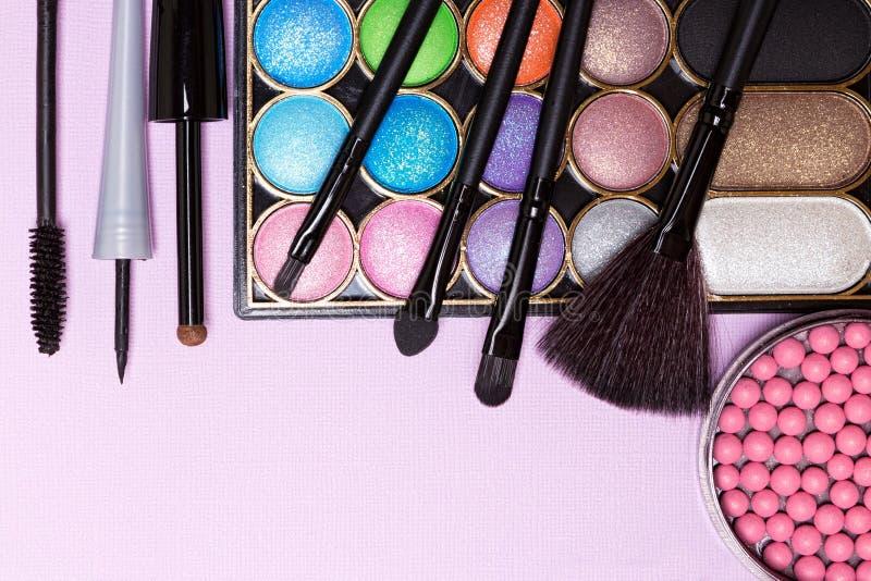 Dekorativa skönhetsmedel för makeup för ferieparti arkivbilder