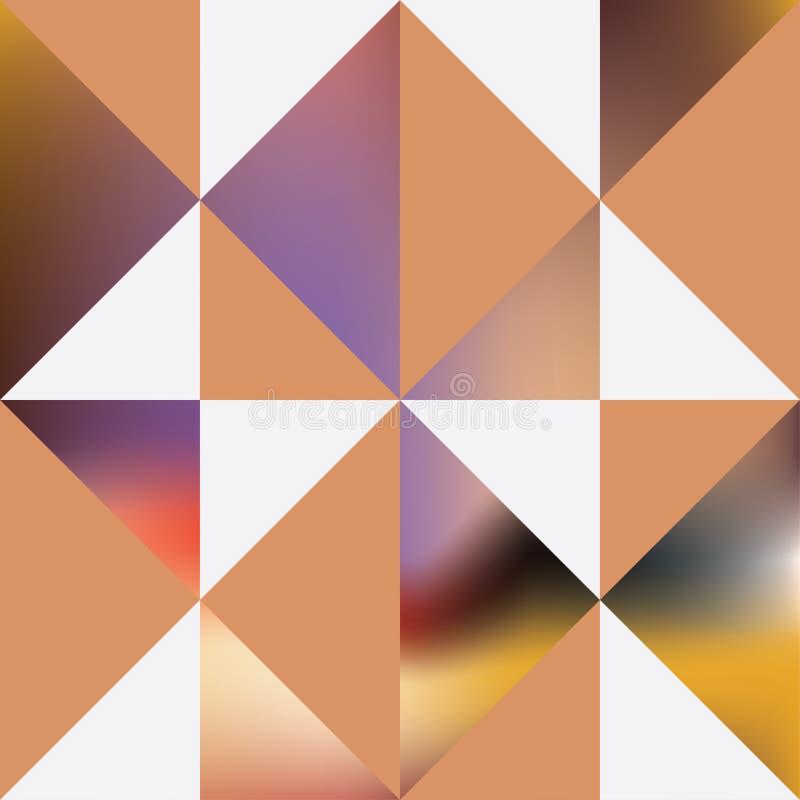 Dekorativa svartvita trianglar Abstrakt panelmodell vektor illustrationer