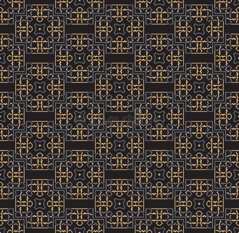 Dekorativa symmetrier f?r s?ml?s modell, illustration f?r prydnadmodellvektor royaltyfri illustrationer
