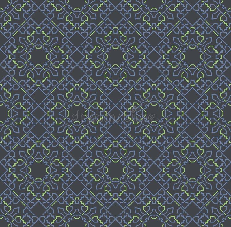 Dekorativa symmetrier f?r s?ml?s modell, illustration f?r prydnadmodellvektor vektor illustrationer