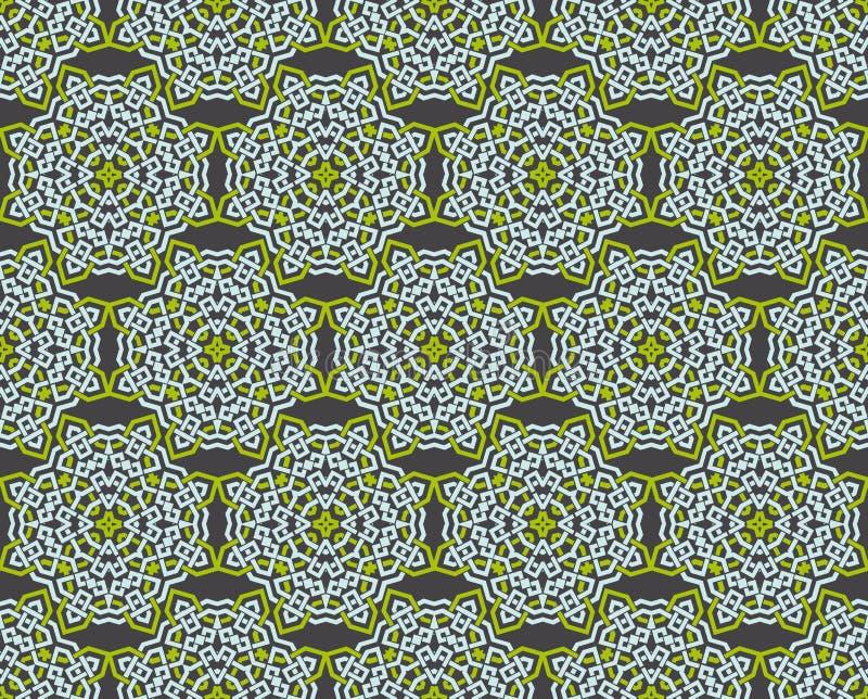 Dekorativa symmetrier f?r s?ml?s modell, illustration f?r prydnadmodellvektor stock illustrationer