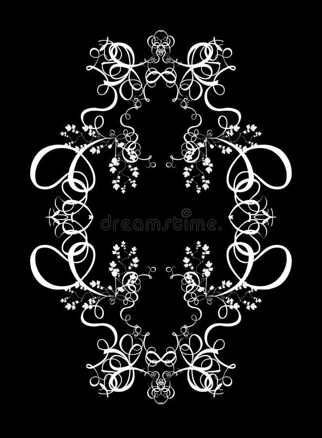 Dekorative abstrakte Digital-Auslegung - Kreisfeld-Hintergrund stock abbildung