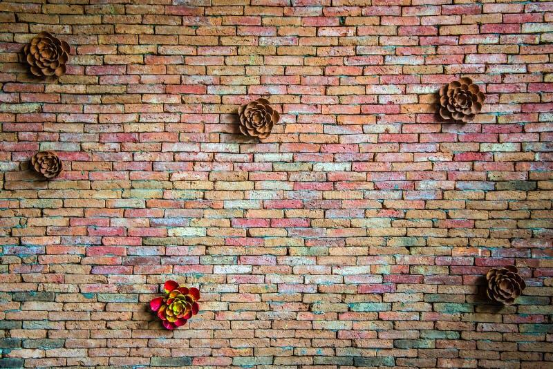 Dekorative Backsteinmauer stockbild
