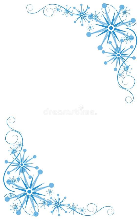 Dekorative blaue Ecken lizenzfreie abbildung