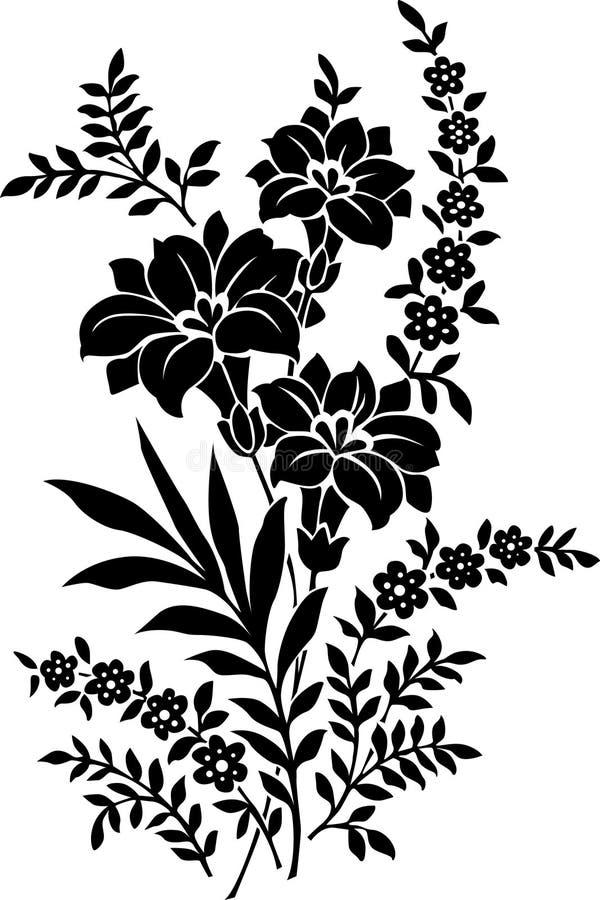Dekorative Blume stock abbildung