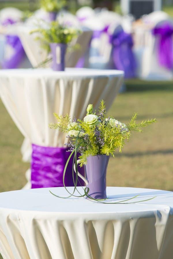 Dekorative Blumen in der Hochzeit lizenzfreies stockbild