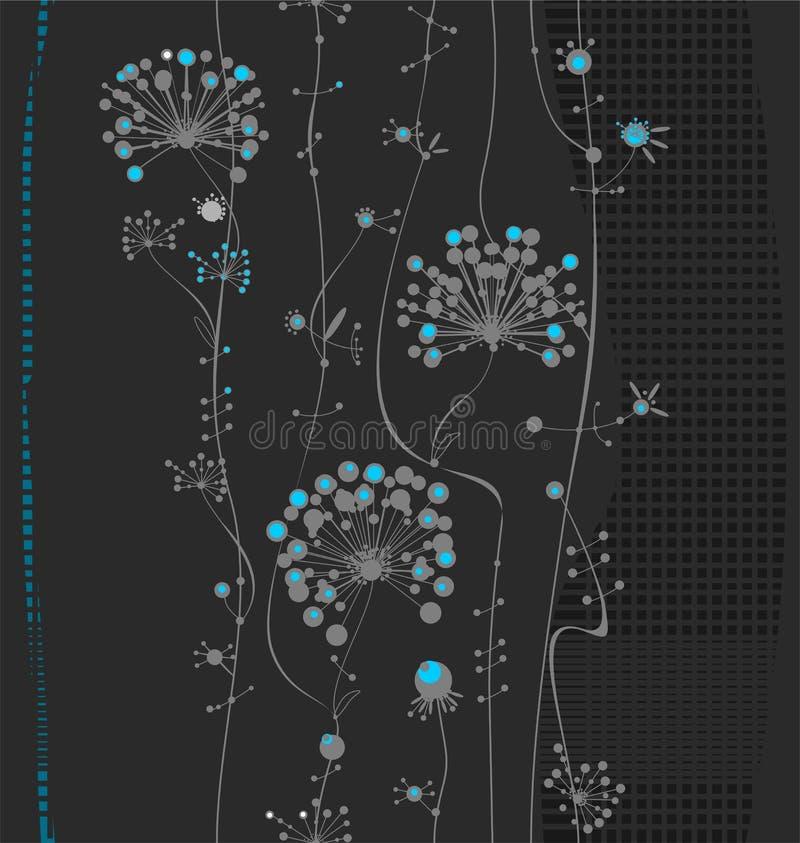 Dekorative Blumen vertikal stock abbildung
