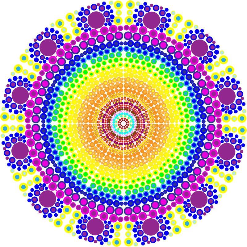 Dekorative bunte Vektormandala Dekorative bunte Vektormandala Rundes Verzierungs-Muster lizenzfreies stockbild