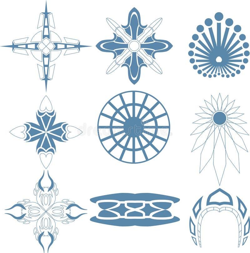 Dekorative Design Vektor-Kreuzkunst lizenzfreie abbildung