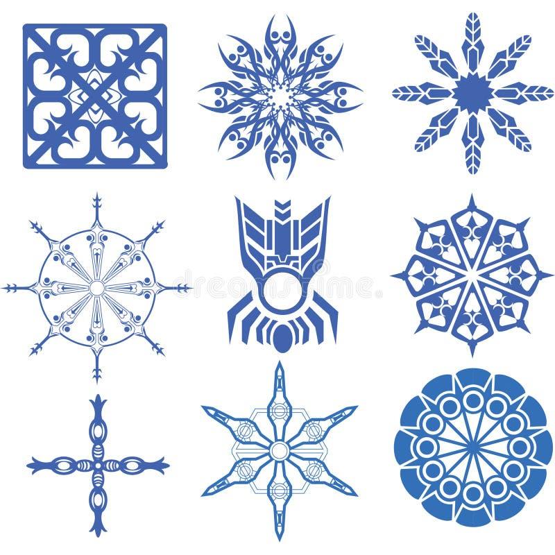 Dekorative Design Vektorblumen- und -kreuzkunst stock abbildung