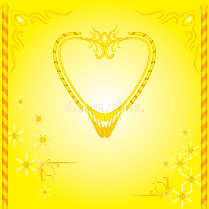 Dekorative Design Vektorrahmen-Heiratkarten lizenzfreie abbildung