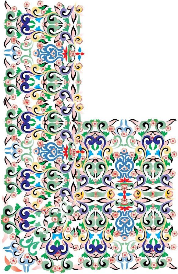 Dekorative Ecke der Farbe lizenzfreie abbildung