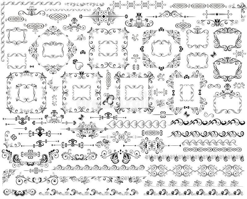 Dekorative Elemente stock abbildung