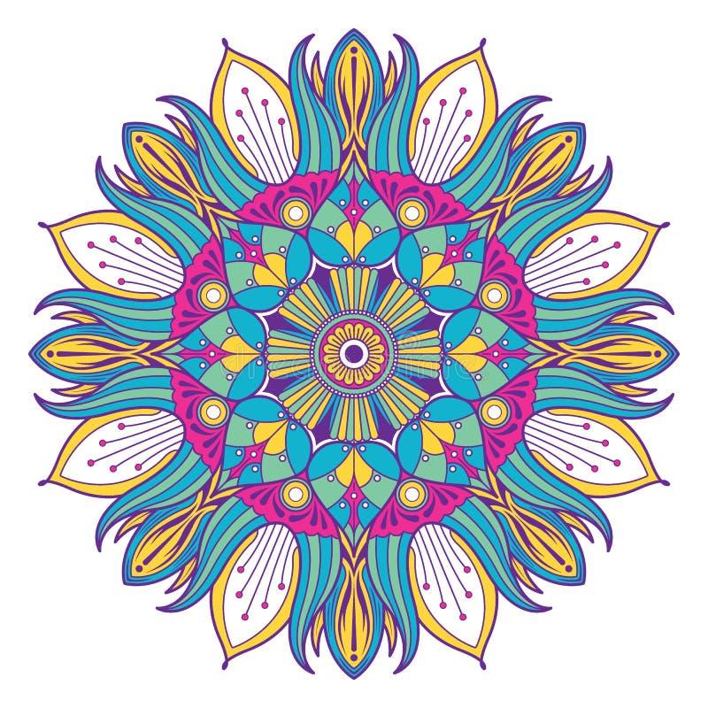 Dekorative Elemente Blumen-Mandala Vintages vektor abbildung