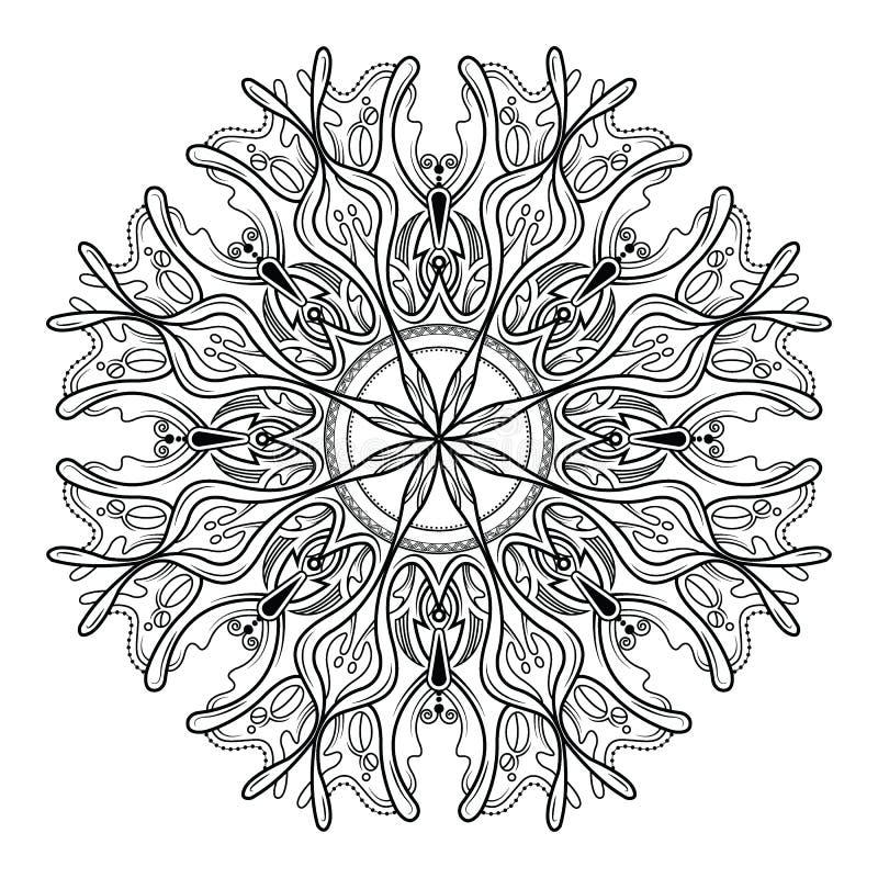 Dekorative Elemente der Mandalavektorweinlese-Blume vektor abbildung