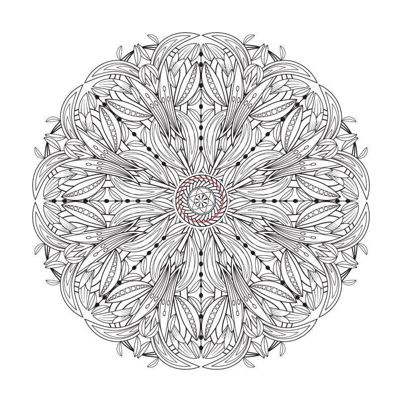 Dekorative Elemente Mandalablume Weinlese vektor abbildung