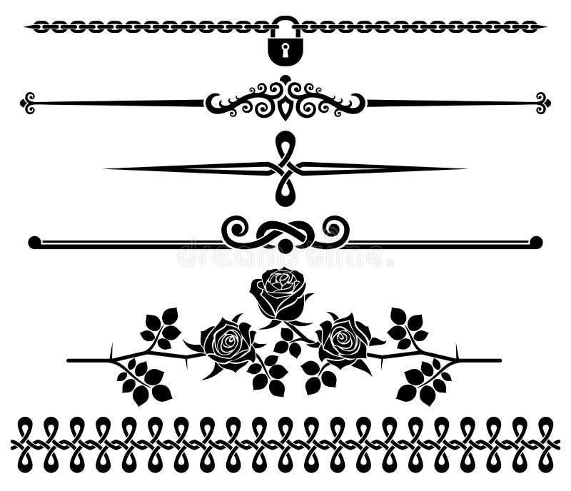 Dekorative Elemente - Rosen lizenzfreie abbildung