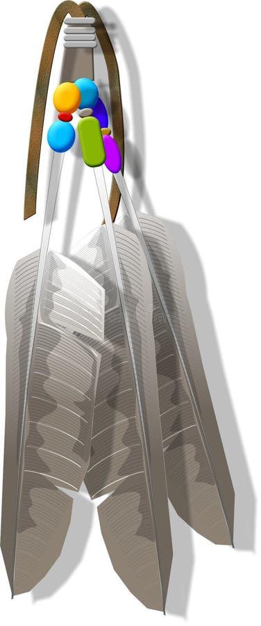 Dekorative Federn stock abbildung