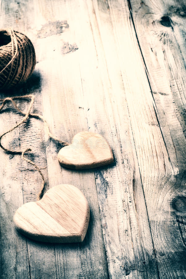 Dekorative Herzen Im Retrostil Stockbild - Bild von exemplar ...
