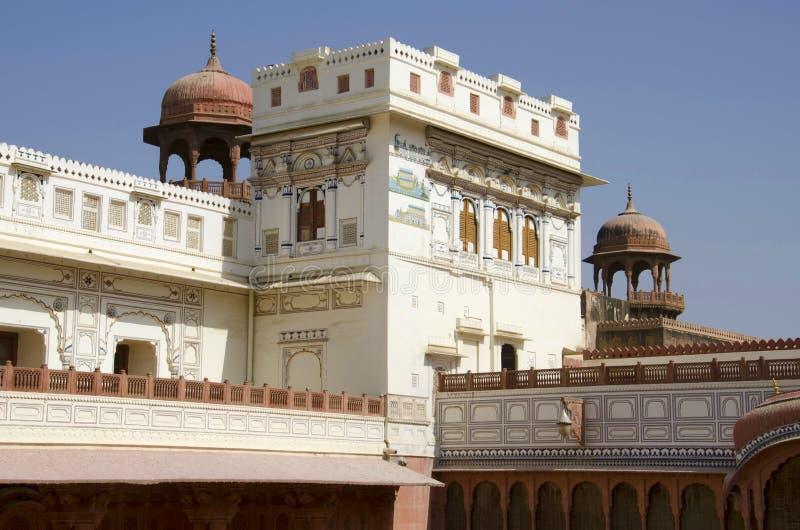 Dekorative innere W?nde von Junagarh-Fort, Bikaner, Rajasthan, Indien lizenzfreies stockbild