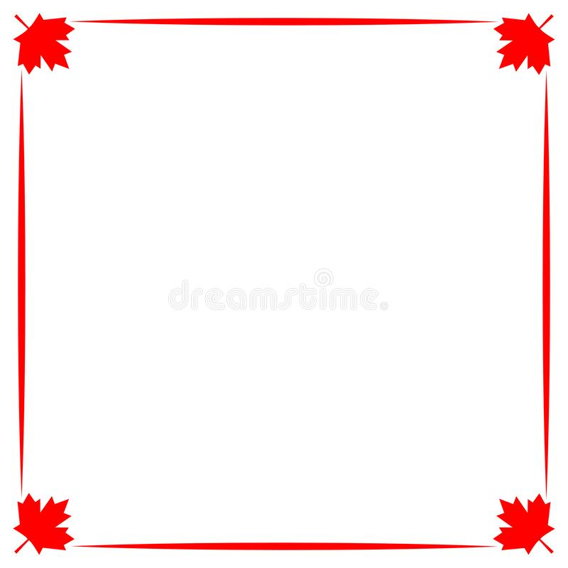 Dekorative kanadische Grenze mit Rotahornblatt stock abbildung