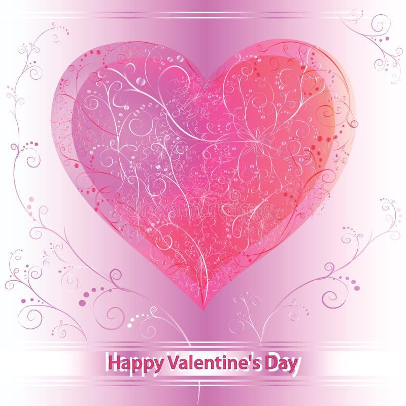 Dekorative Karte für Valentinstag lizenzfreie abbildung