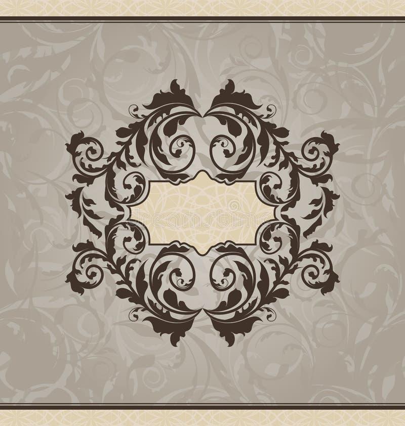 Dekorative Karte oder Einladung der Wiederbelebung lizenzfreie abbildung