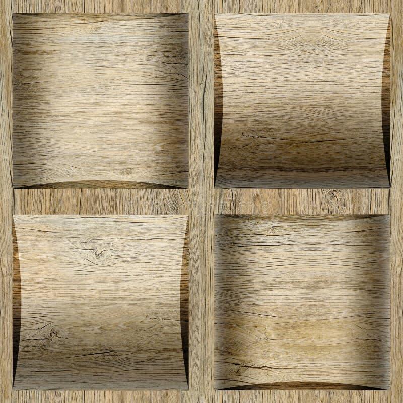 Dekorative Kassette deckt - nahtloser Hintergrund - Kassettenboden mit Ziegeln stockbilder